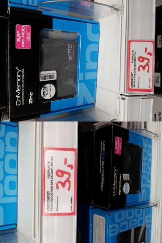 "[MM Bo] CnMemory 2,5"" Spaceloop oder Zinc 500GB USB 3.0 [Lokal]"