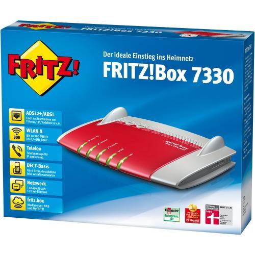 [ Saturn Hattingen ] AVM FRITZ!Box 7330 Wlan Router (ADSL, 300 Mbit/s, DECT-Basis für bis zu 6 Schnurlostelefone , Media Server)  94€