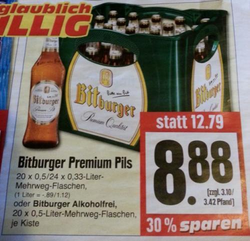 [offline] Verschiedene gute Angebote bei Edeka. Bitburger 8,88€, Klopfer 5,77€, Nescafe 200g 6,66€, Coca-Cola 1,25l 0,79€...ab 08.04.