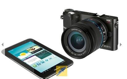 Samsung NX 210 + Samsung Galaxy Tab 2 7.0 8GB WiFi