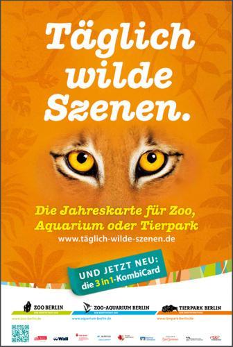 3in1-KombiCard  Jahreskarte  Zoo, Aquarium und Tierpark Berlin 118,00 € Erwachsene ; 58,00 € ALG II-Empfänger, Schwerbehinderte ; 88,00 € Studenten, Berufsschüler, Erwerbslose; 153,00 € FAMILIENTICKETx09
