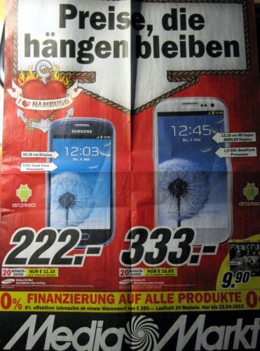 Galaxy S3 bei Media Markt in/um Hamburg