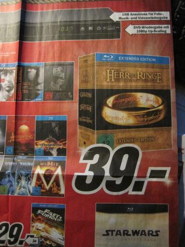 Der Herr der Ringe: Bluray Extended Edition in/um Hamburg (Media Markt)