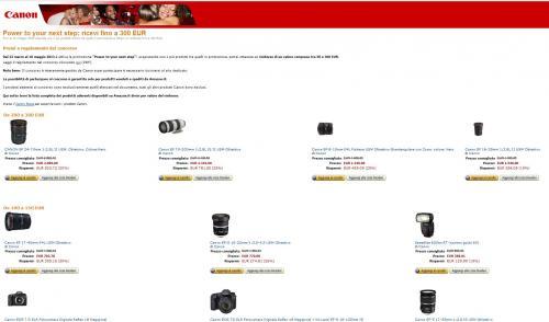 Canon Cashback Aktion bis 300€ bei Amazon.it