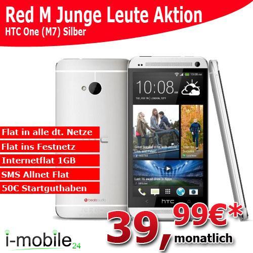 Das neue HTC One inkl. RED M Junge Leute für 39,99€