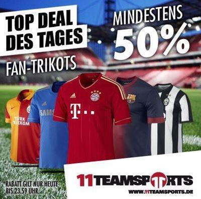 Fan Shop Aktion - Mindestens 50% auf alle Trikots