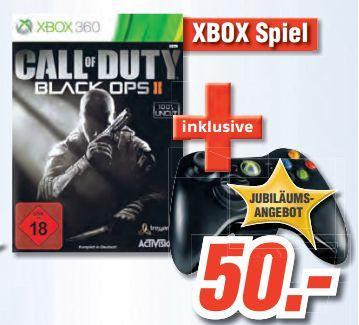 XBox 360 - Call of Duty: Black Ops 2 + Wireless Controller für €50.- [@Medimax Kiel]