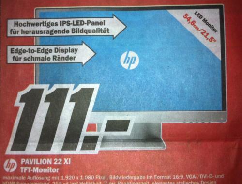 HP Pavilion 22 XI - LED IPS Monitor [lokal MM Osnabrück Belm]