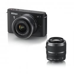 Nikon 1 J2 Kits zum Angebotspreis bei Deltatecc z.B. Nikon 1 J2 + 1 NIKKOR VR 10-30 mm + VR 30-110 mm Schwarz für 449,-Euro