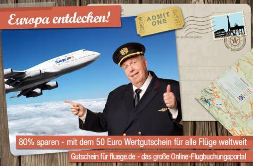 80 % auf bei Flüge.de Sparen