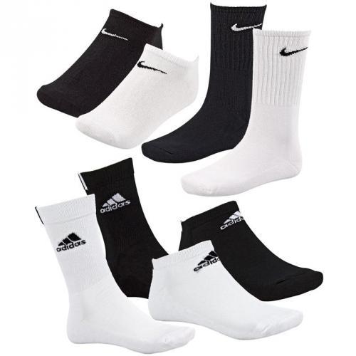 Adidas / Nike 9er Pack Sneaker Socken oder Sportsocken 39-42 43-46 NEU @ ebay WOW /event.Qipu 22,5%