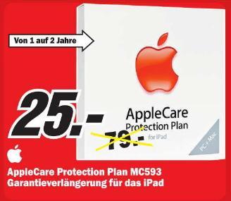 [ MM   Holzminden ] APPLE CareProtection Plan für Garantieverlängerung für  iPad  25€