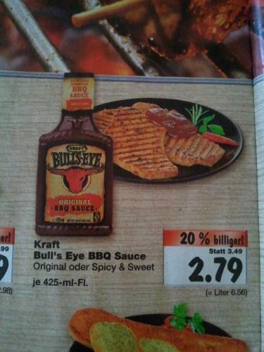 Kaufland 15.-30.4. - BBQ Bull's Eye für 2.79€