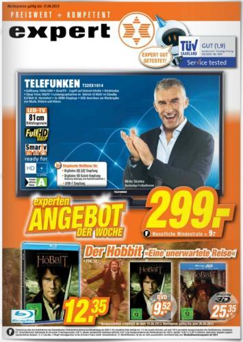 Der Hobbit Blu-ray für 12,35€ Expert Holzminden