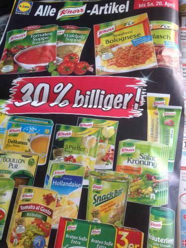 Lidl 30% auf alle Knorr Artikel