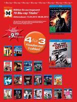 """Titel der neuen """"4 für 3""""-Aktion (Blu-rays & DVDs) beim Drogeriemarkt Müller"""