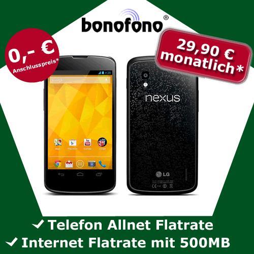 LG Google Nexus 4 (16GB) für Effektiv 310,80€