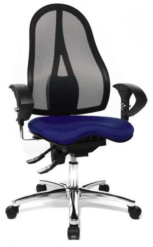 Topstar Bürodrehstuhl Sitness 15 inkl. höhenverstellbarer Armlehnen - Fitness-Drehstuhl mit balancierender Sitzfläche bei Staples