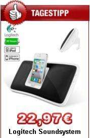 Logitech Soundsystem Dockingstation für iPod, iPhone, MP3-Player, portable CD-Player für 26,94€ inkl. Versand
