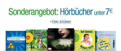 Hörbücher unter 7 EUR - versandkostenfrei @ Amazon