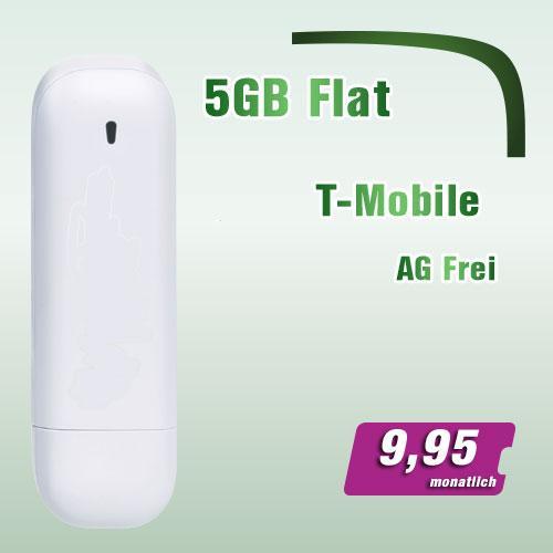 T-Mobile 5GB Internet Flat für 9,95 Euro im Monat + UMTS Stick @Ebay