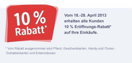 [LOKAL] 10 % Eröffnungsrabatt dm Lübeck-Travemünde vom 18. - 28.04.2013