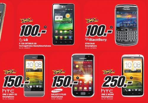 MM LG P720 Optimus 3D Max black für 100€ und HTC One X weiss für 250€ !!! (LOKAL)