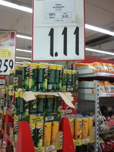 Lokal Kaufland Dresden Pringles Aktionspack 1,11€ statt  2,15€!