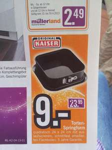[LOKAL SU]Kaiser Black Magic Torten-Springform 24 x 24 cm für 9€ bei Müllerland in Hennef