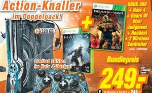 [Expert Steinfurt]  Microsoft Xbox 360 S 320GB Halo 4 Limited Edition Halo 4 + Gears of War: Judgment + Headset + 2 Wireless Cotroller  249€