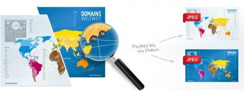 Checkdomain-Poster - Welt-Domain-Poster | kostenlos für Blogger