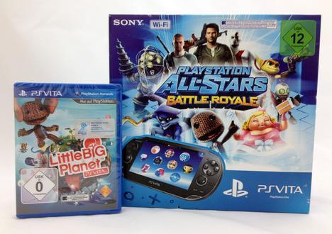 10% gespart : PS Vita WiFi + All Stars B.R. + Little Big Planet 203,99 Idealosumme: 226,39€