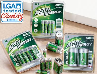 offline Aldi Süd ACTIV ENERGY®  NiMH-Akkus