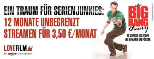 12 Monate Lovefilm On-Demand-Flatrate für 3,50€/Monat [über Amazon Student]