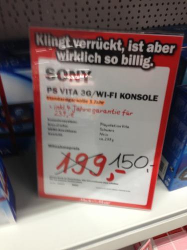 [Lokal] Media Markt Ludwigsburg PSVITA Wifi + 3G 150€ evtl mit Gutscheinen 120€