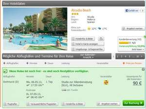 1 Tag (besser gesagt: Nacht) auf Mallorca für 9€ (Flug +3 Sterne Hotel) [ab Dortmund]
