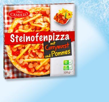 [Penny] Pizza mit Currywurst und Pommes ab Montag