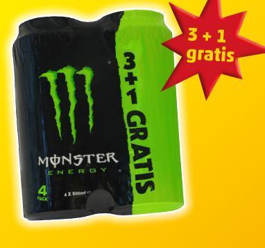 PENNY - MONSTER Energy-Drink 4 x 0,5-Liter-Dose 3,99€