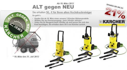 Kärcher alt gegen neu Aktion für Eco Geräte (-50€)