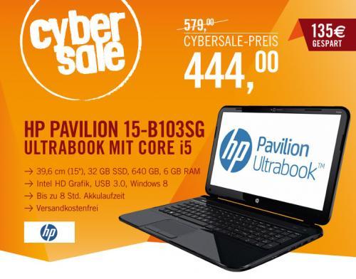 HP Pavilion Ultrabook 15-b103sg - i5-3337U 6GB 640GB + 32GB SSD Windows 8