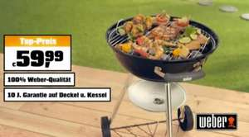 [National] Weber Grill Bar-B-Kettle 47cm (???) im Angebot bei OBI, mit Bauhaus-Garantie für 52,80