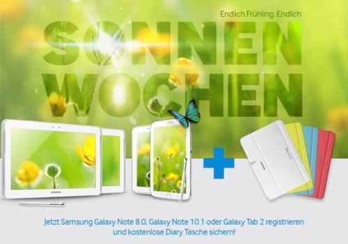 """[Samsung Aktion] Kostenlose """"Diary Tasche"""" von Samsung für gekaufte Tab- und Note-Modelle"""