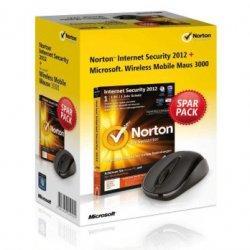 Norton Internet Security 2012 + gratis Update mit Microsoft Wireless Mobile Mouse für 21,90€ inkl. Versand