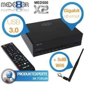 Mede8er Full HD Multimedia Player mit Gigabit LAN, WLAN, USB3.0 [anstatt 170€]