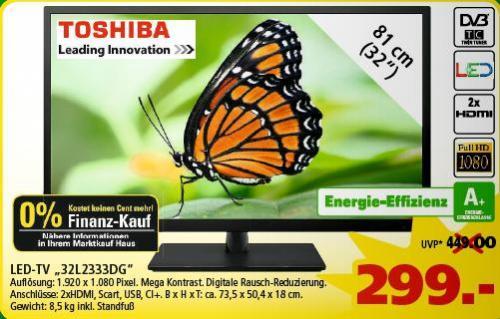 Toshiba 32L2333 für 299€ @ Marktkauf Goslar [Offline; Bundesweit?]