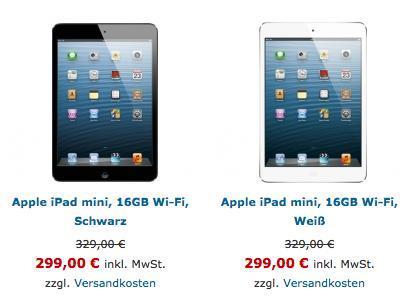 Apple iPad mini 16GB Wi-Fi, Schwarz/weiß bei Abholung nur € 299,-