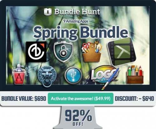 BundleHunt Spring Bundle mit 9 Apps inkl. Camtasia für 49,99$ bzw. 38,29€