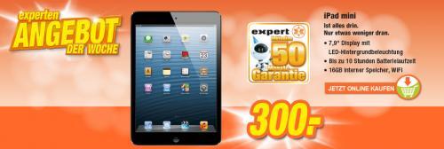 iPad mini 16GB + 50 Monate Garantie für 300.-€! [Online + Offline @ expert TeVi]