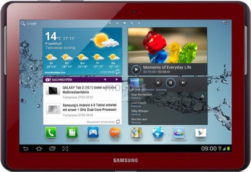 mal wieder auf telbay - diesmal in rot: Samsung GT-P5110 Galaxy Tab 2 10.1 Wifi 16GB rot