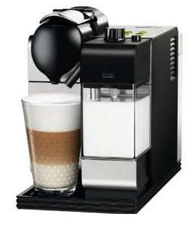DeLonghi EN 520.S Nespresso Lattissima + Nespresso System in Silber + 100€ Kapsel-Gutschein